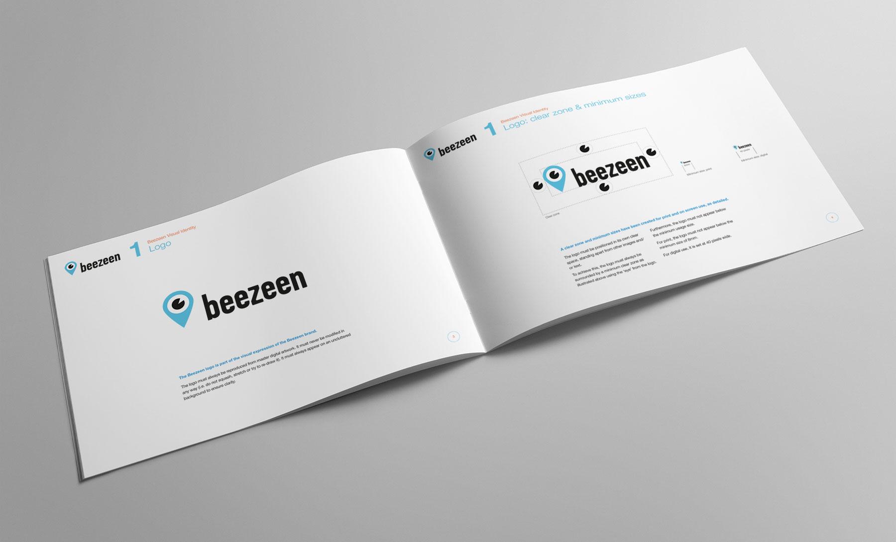 Beezeen visual identity design