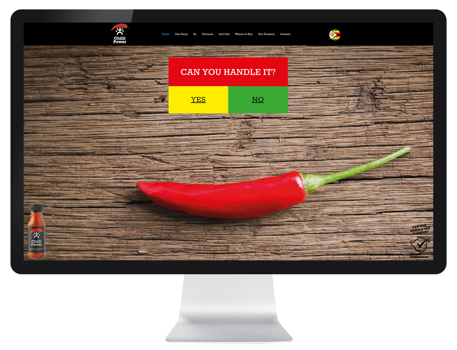 website design for chilli sauce brand