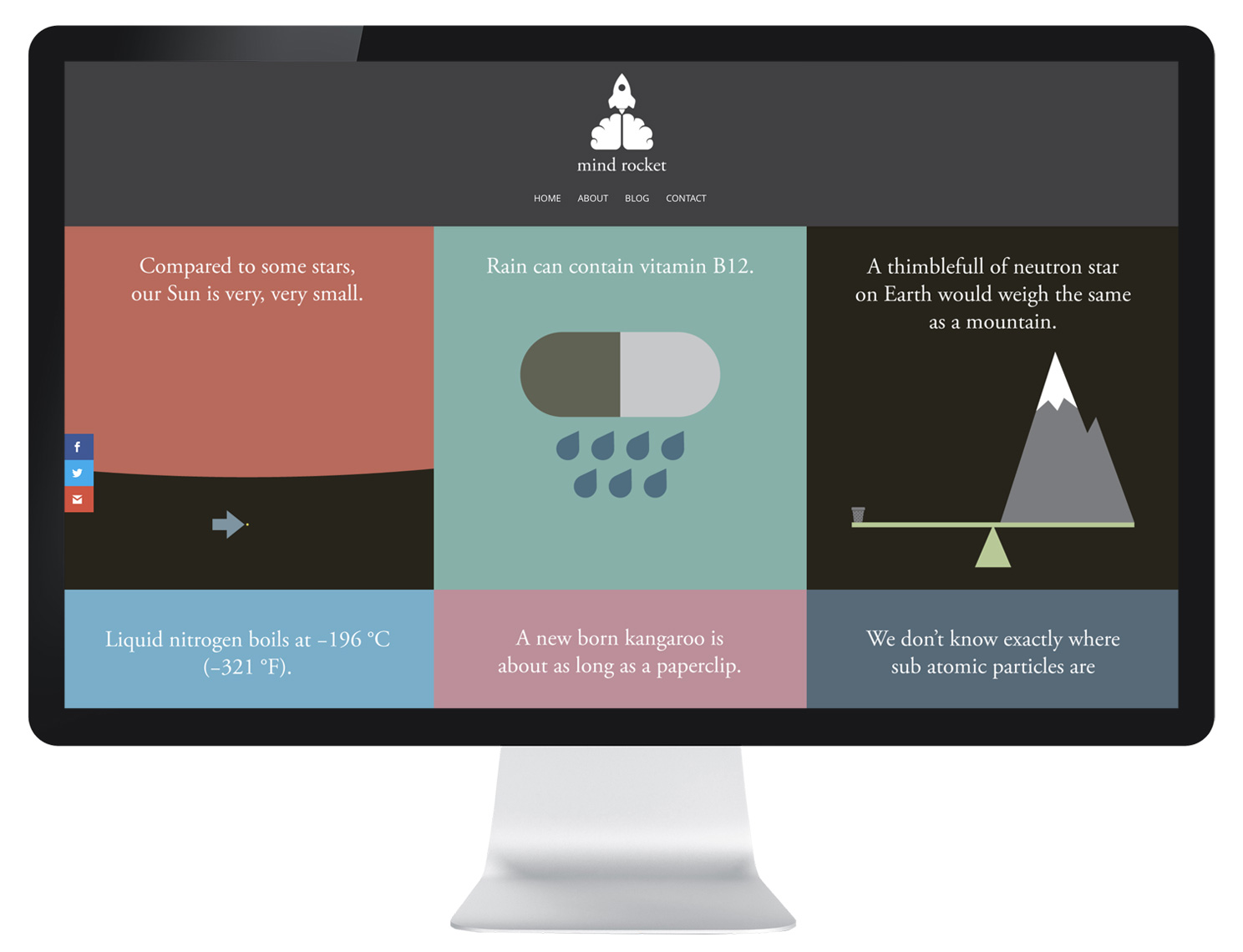website design for science illustrator