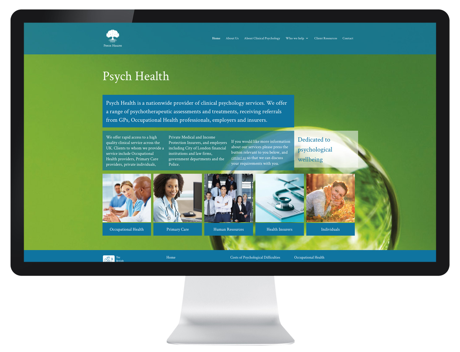 website design for psychologists