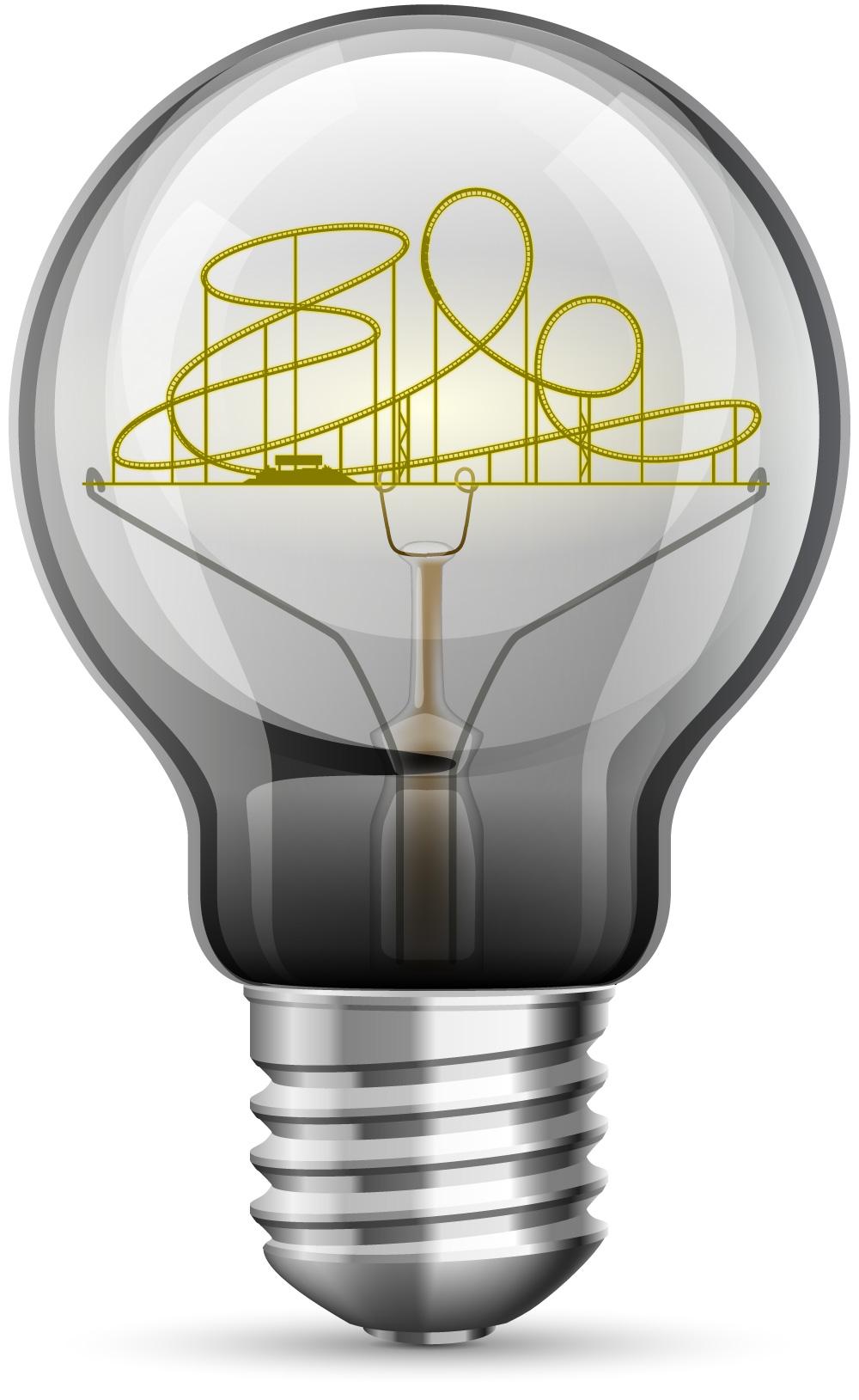 rollercoaster lightbulb illustration